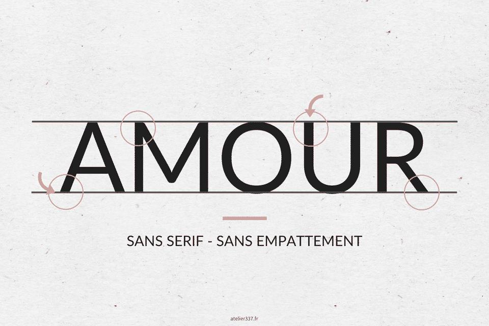 Exemple de Typographie Sans Serif