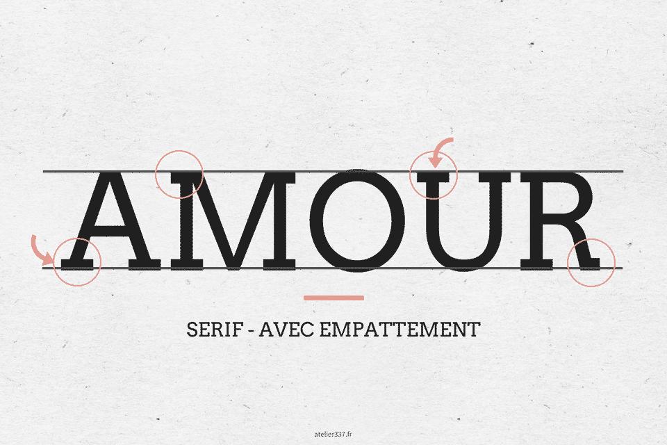 Exemple d'une typographie avec Serif