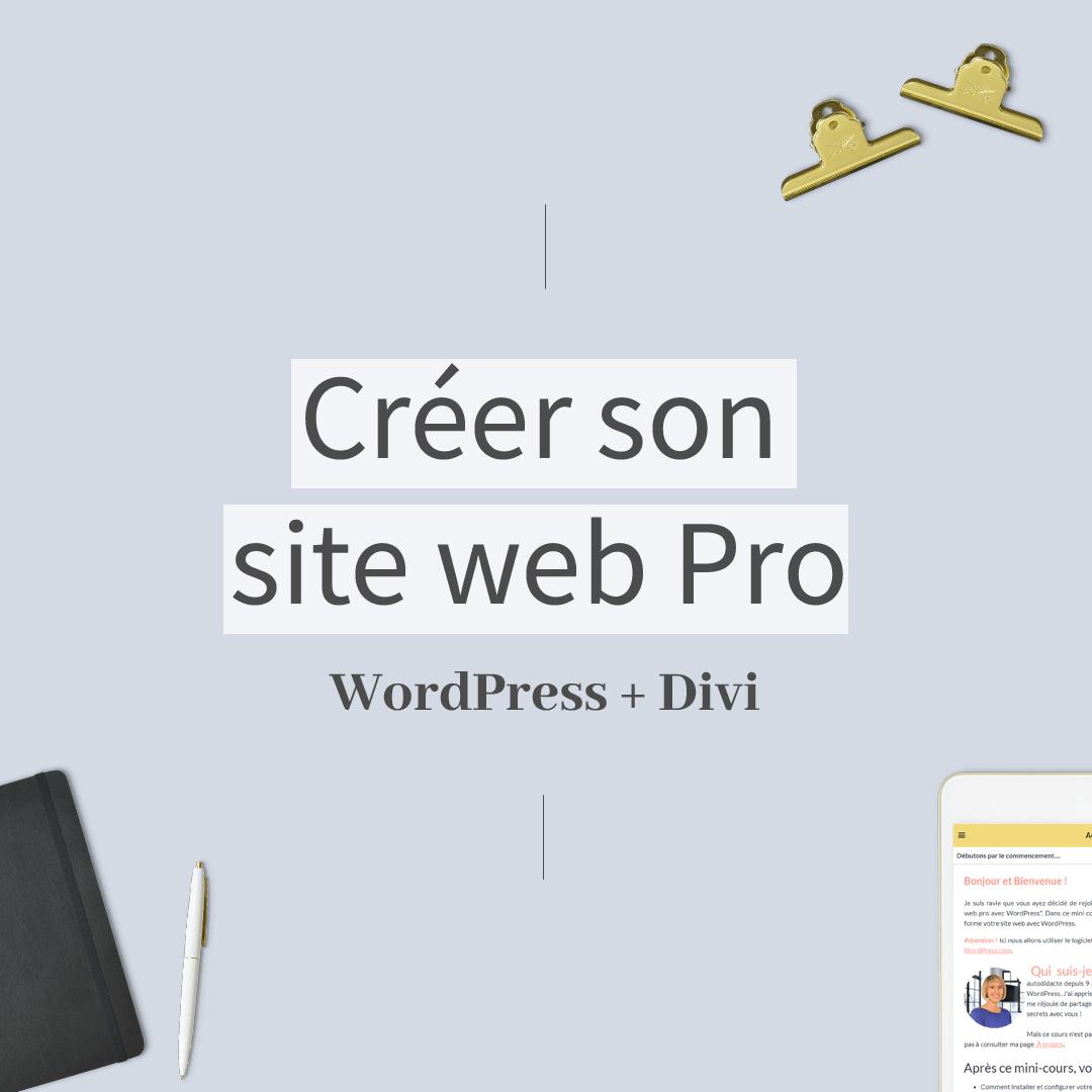 Illustration Formation en ligne Créer son site web pro WordPress et DIVI