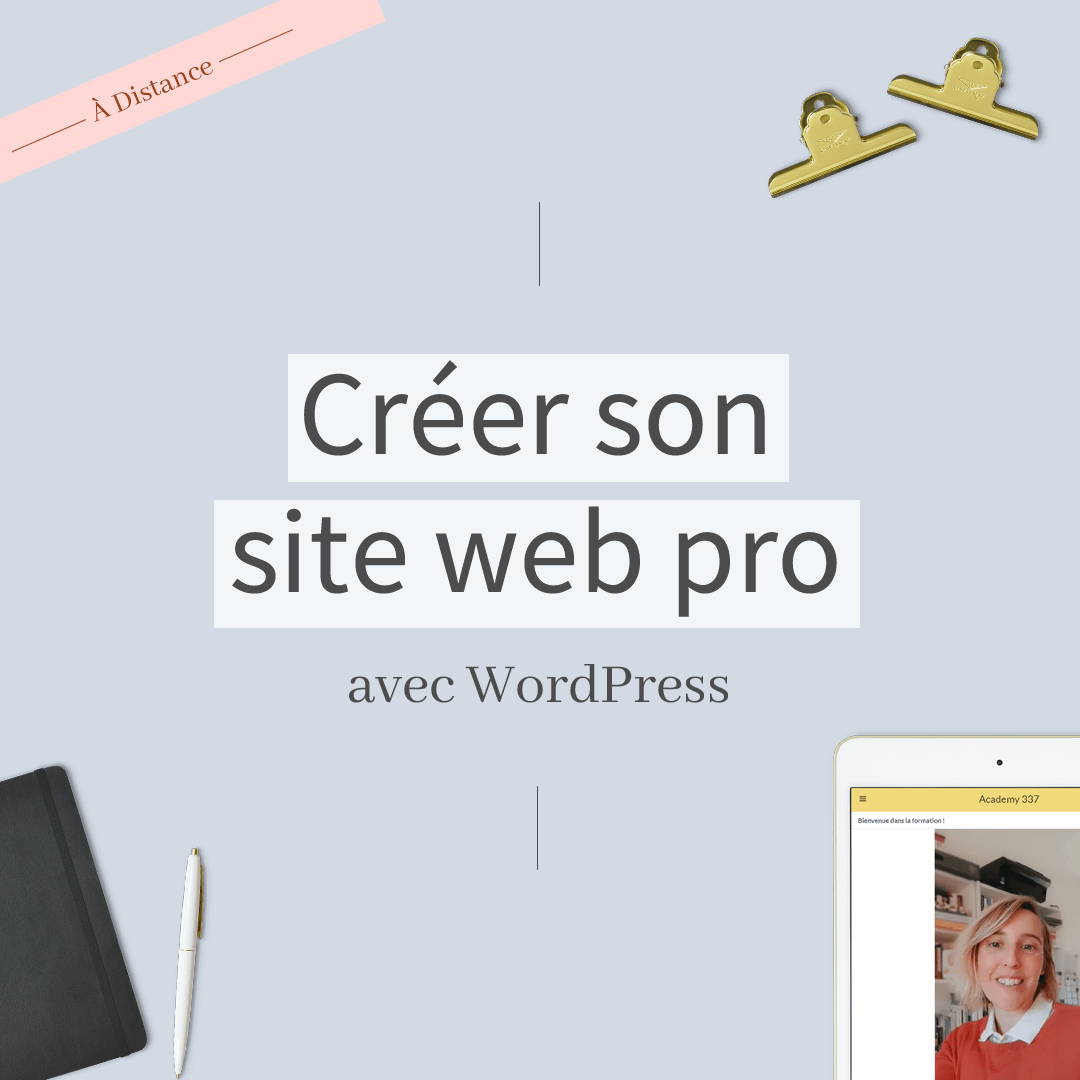 Image d'illustration formation en ligne WordPress